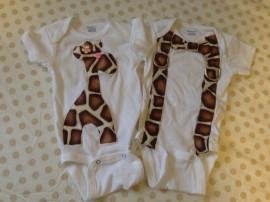 Handmade onesies by Jennifer